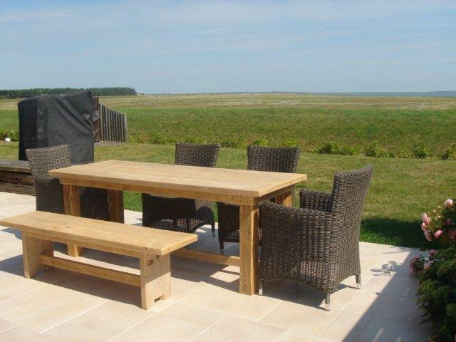 Bauholz Esstisch Terrasse